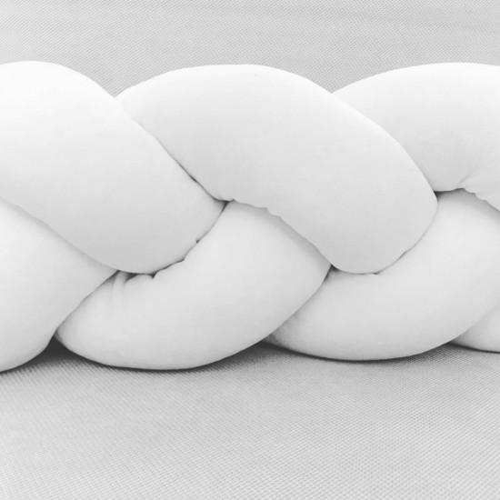 White Velvet Knot Pillow