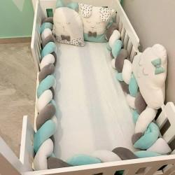 Exclusive Velvet Montesorri Bed Braid Bumper