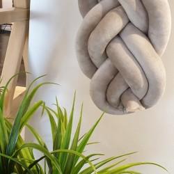 Προστατευτική Πάντα Πλεξούδα Twin Knitting Beige
