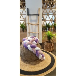Προστατευτική πάντα κούνιας purple,white & lilaq