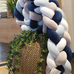 Blue Orchid 4 stand Velvet Braid Bumber