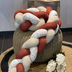 Προστατευτική πάντα πλεξούδα  flowers with Teracota