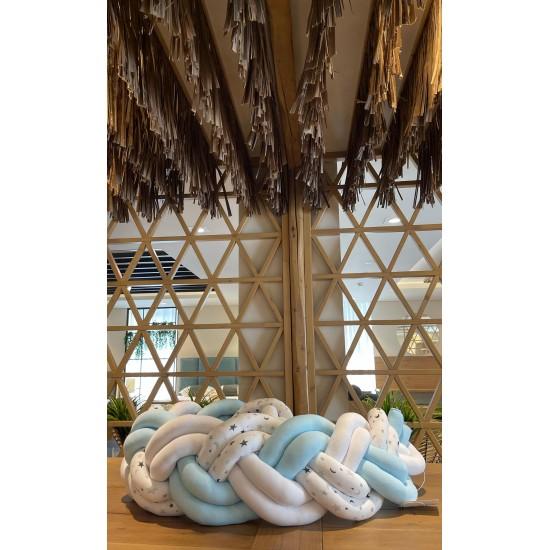 Προστατευτική πάντα Πλεξούδα Twin Knitting  Blue Skyfall