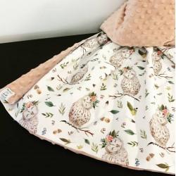 Minky Dusty Pink Owlette