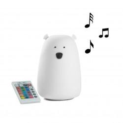 Φωτάκι Νυκτός Bear με Bluetooth