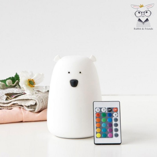 Φωτάκι Νυκτός  Bear με τηλεχειριστήριο