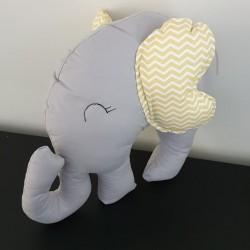 Elephant Pillow Yelloh & Grey