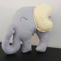Elephant Pillow Yelloh & Grey