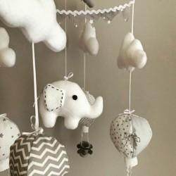 Air Hot Ballon Grey & White