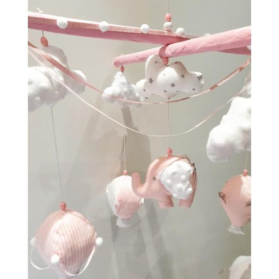 Air Hot Ballon Pastel pinky