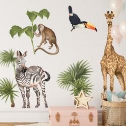 Αυτοκόλλητη Σύνθεση Safari & African landscape