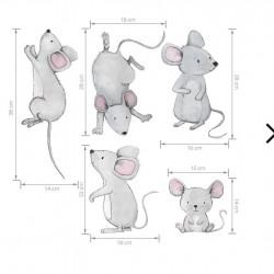 Αυτοκόλλητα Mice Family