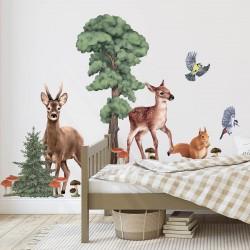 Αυτοκόλλητο τοίχου  Δάσος με ζωάκια  Νο  Ι
