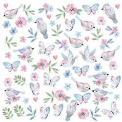 Αυτοκόλλητα Birds Pink