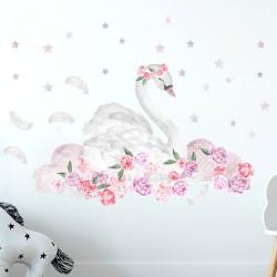 Sticker Pink Swan