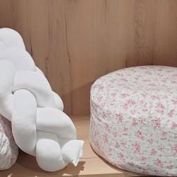 Πουφ παιδικού δωματίου Floral mint & roses