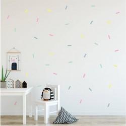 Pastel Sprinkles Fabric Decal