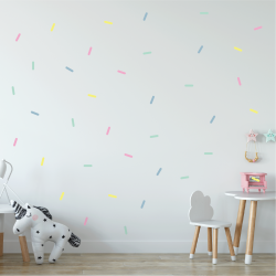 Pastel Sprinkles Fabric Decal