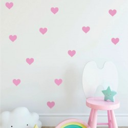 Hearts Pastel pink